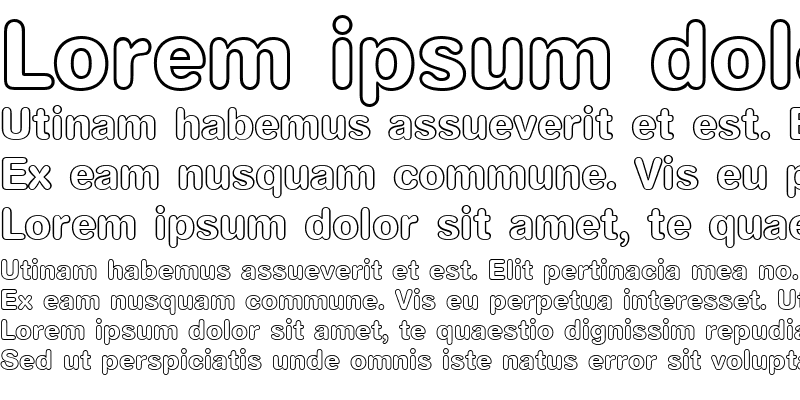 Sample of AG Book Rounded Bold