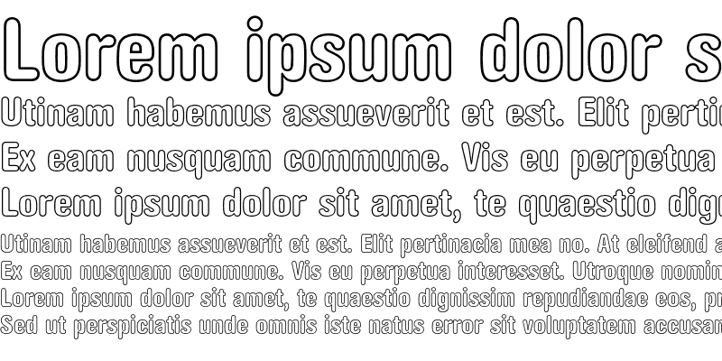 Sample of AG Book Rounded Condensed Outli Bold