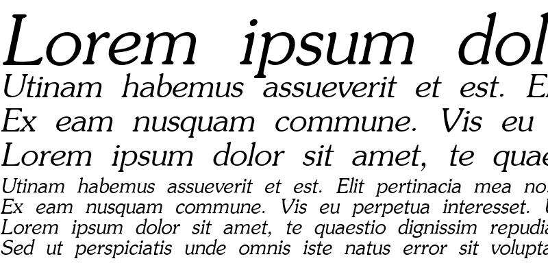 Sample of AG_Souvenir Italic
