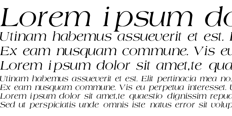 Sample of Agate-Normal-Italic