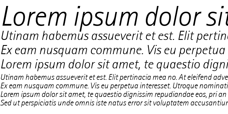 Sample of Agfa Rotis Sans Serif Light Italic