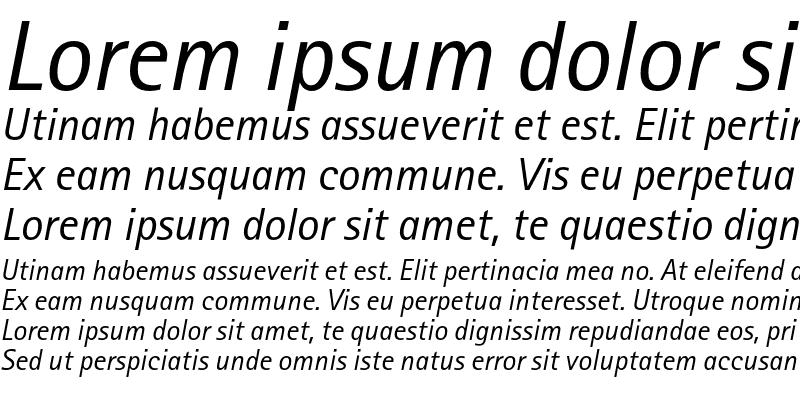 Sample of AgfaRotisSansSerif Italic