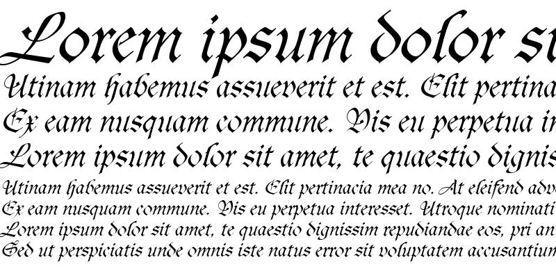 Sample of Agincort Italic
