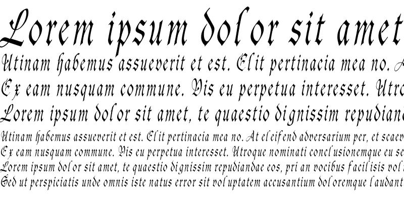 Sample of AgincortCondensed Italic