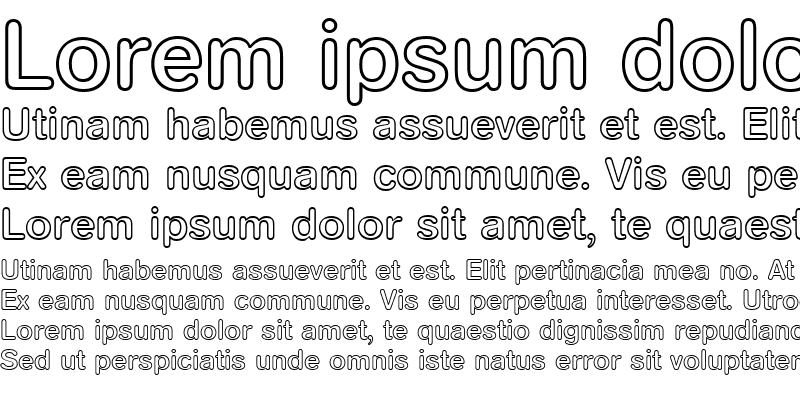 Sample of AGRoundedMediumOutline-Book