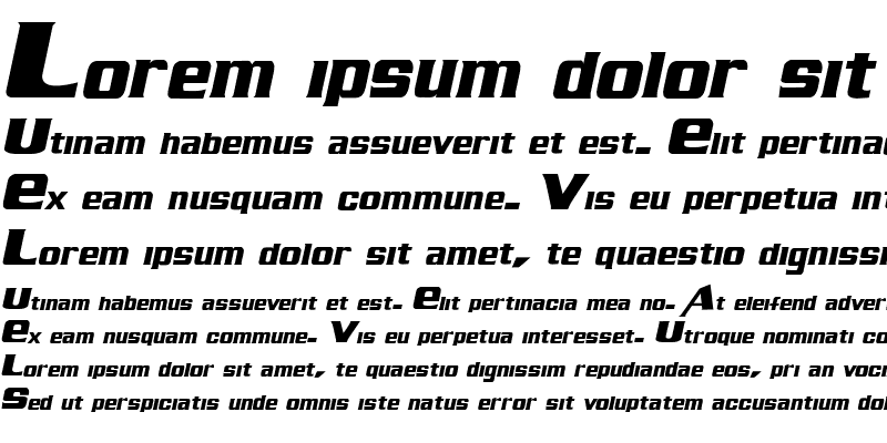 Sample of Air Millhouse  Italic
