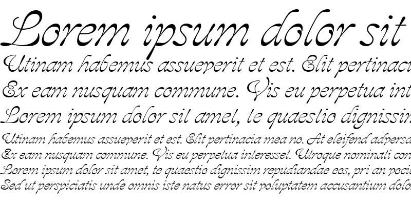 Sample of Aja RomanItalic