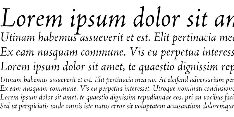 Sample of AJenson Italic
