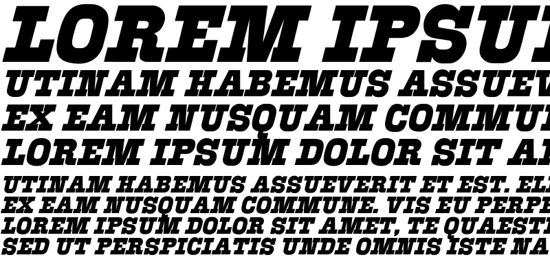 Sample of Akenaton Font
