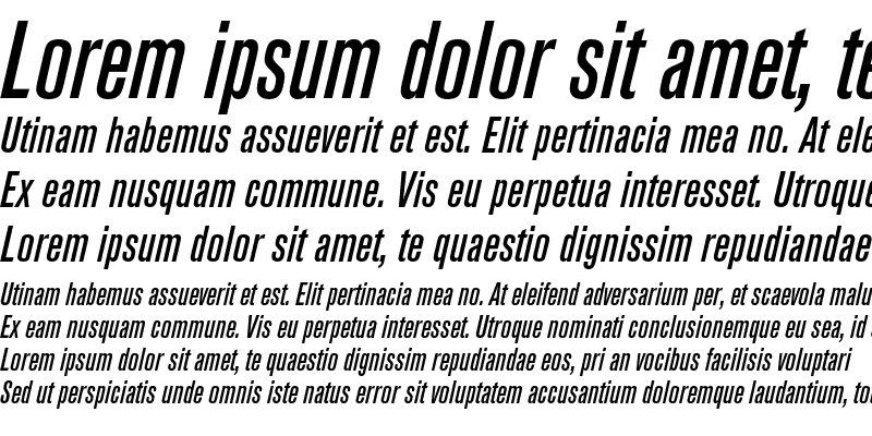 Sample of Akzidenz-Grotesk BQ Condensed Medium Italic
