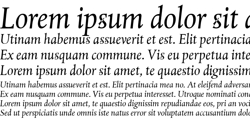 Sample of Albertina Dtl Italic