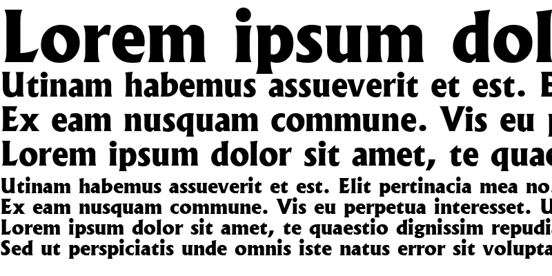 Sample of Albertus Extra Bold