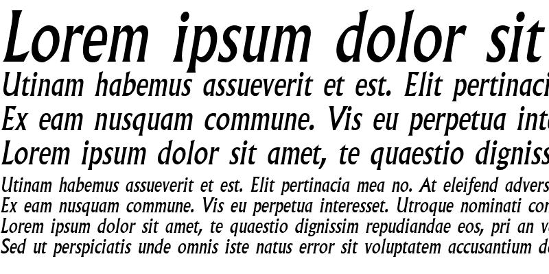 Sample of Albertus MT Italic