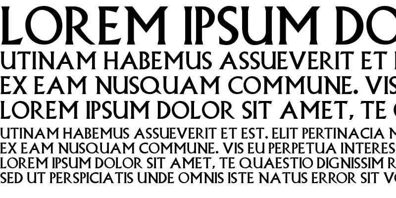 Sample of Albertus Regular
