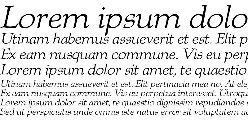 Sample of Albion Italic Regular