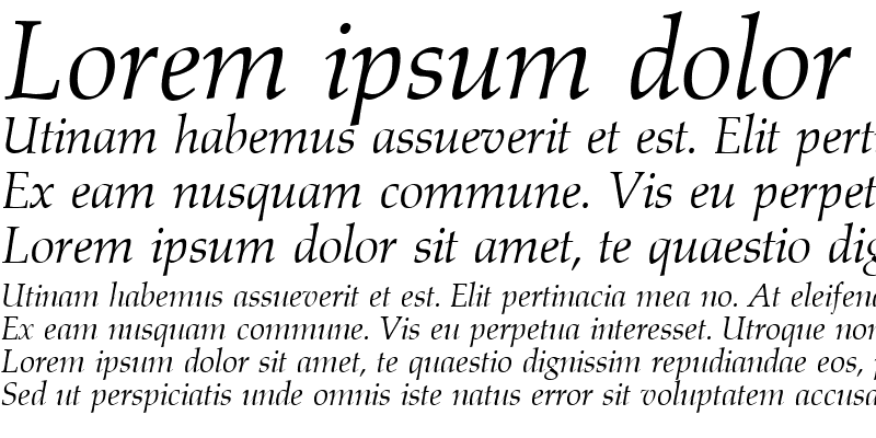 Sample of Aldebaran RegularItalic