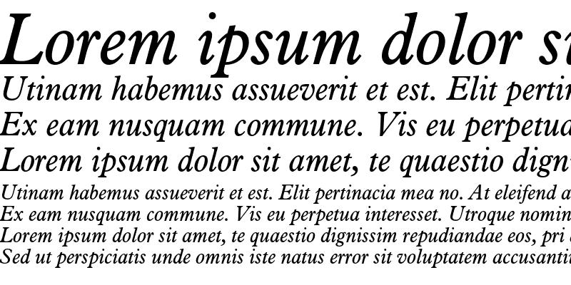 Sample of Aldine 721 Italic