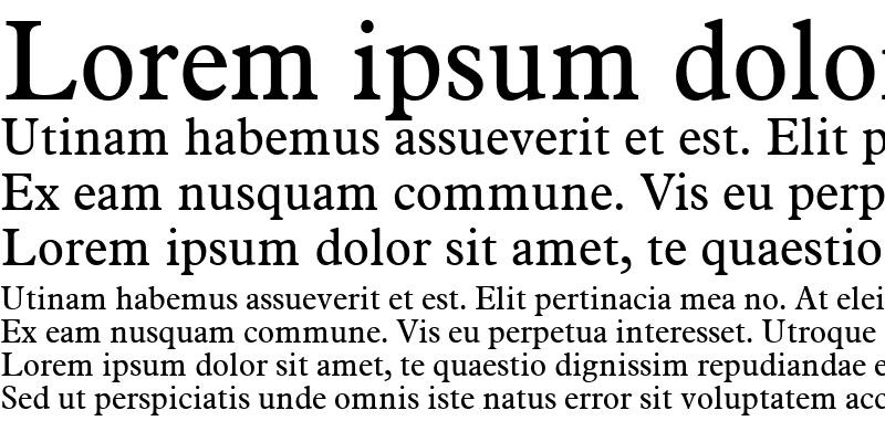 Sample of Aldine721 BT Roman