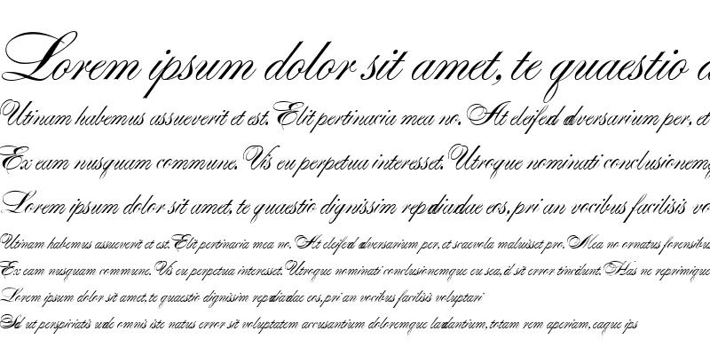 Sample of Alexandra Script