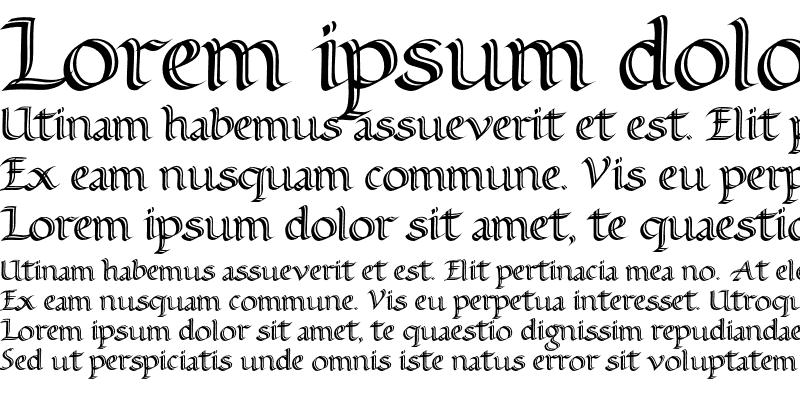Sample of Alice Scrolltip Roman Regular