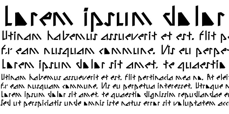 Sample of Alien Tongue Italic