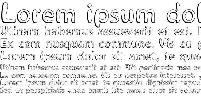 Sample of Alina Font