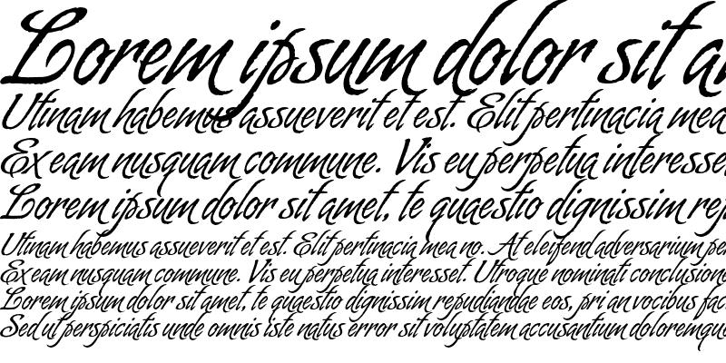 Sample of Almond Script Regular