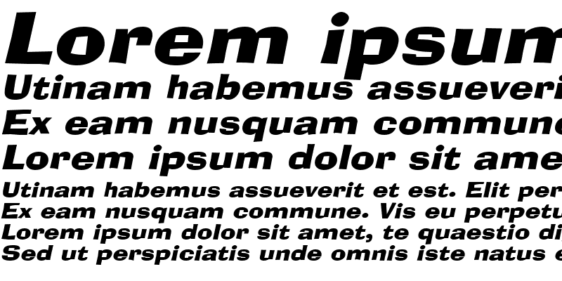 Sample of Alor-Extended Italic