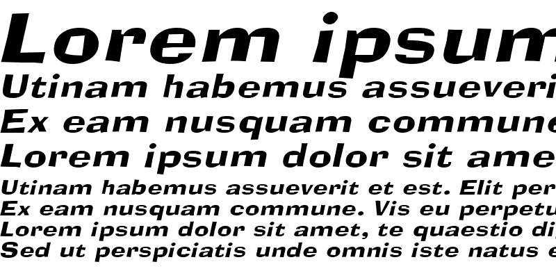 Sample of Alor Narrow Wide Italic