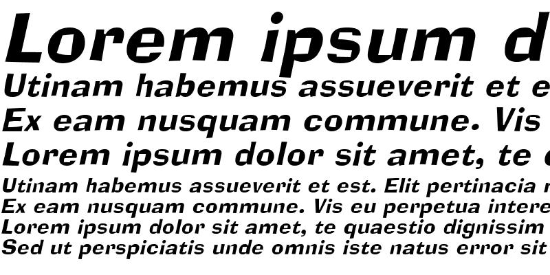 Sample of AlorNarrow Italic