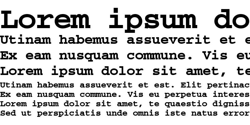 Sample of Alphabet