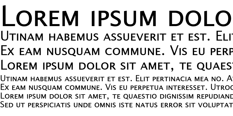 Sample of Alphabet4 SmallCaps