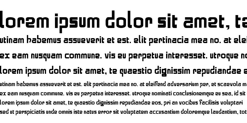 Sample of alphabold Regular