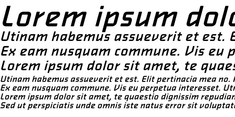 Sample of AlphavilleMedium Oblique