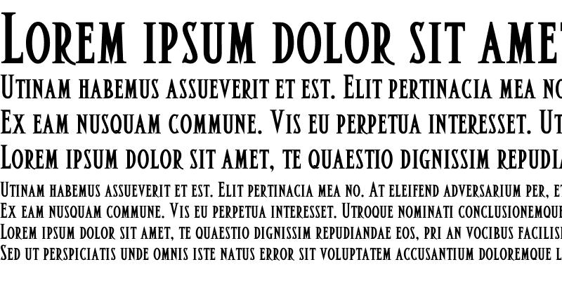 Sample of AltarSmall Caps Bold