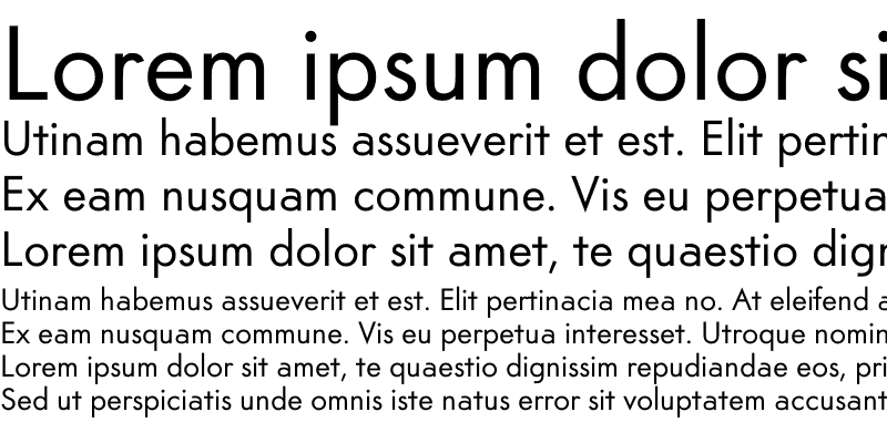 Sample of Am Sans Regular