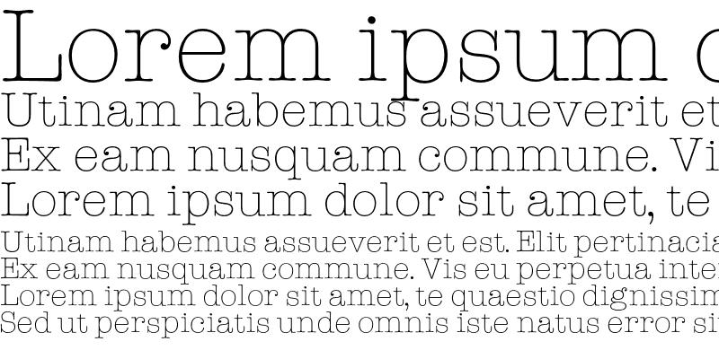 Sample of American TypeLight