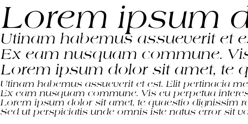 Sample of Americana Becker Italic