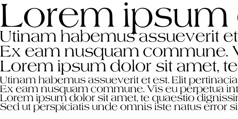 Sample of Americana Font