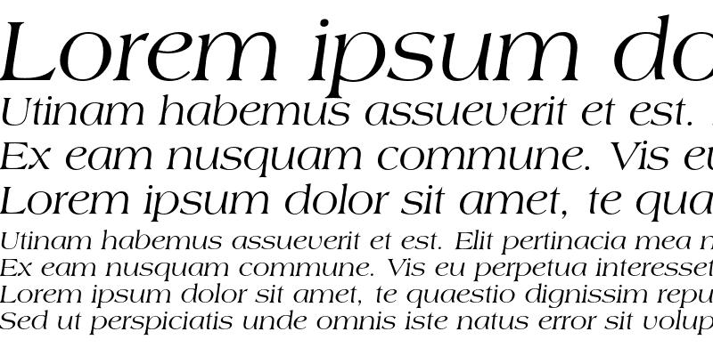 Sample of Americana Italic