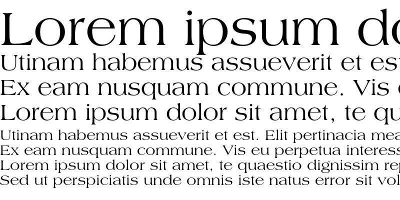Sample of Americana Roman