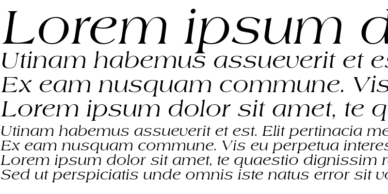 Sample of AmericanaT Italic