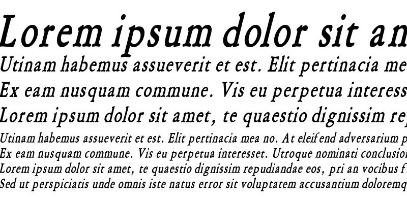 Sample of Amery Condensed BoldItalic