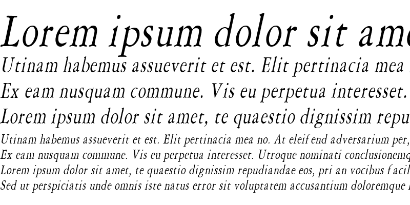 Sample of Amery Condensed Italic