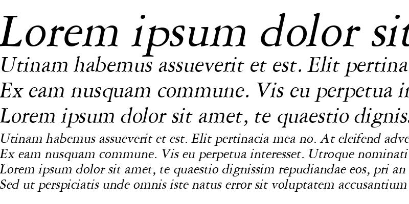 Sample of Amethyst Italic