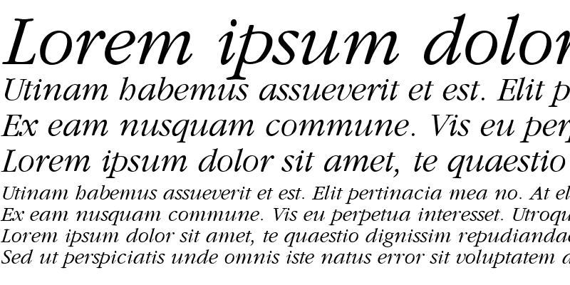 Sample of Amethyst Lite Italic Italic