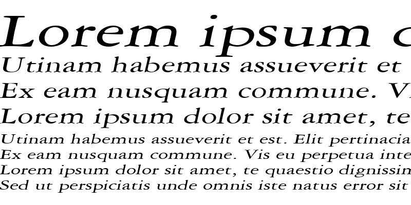 Sample of AmethystExtended Italic