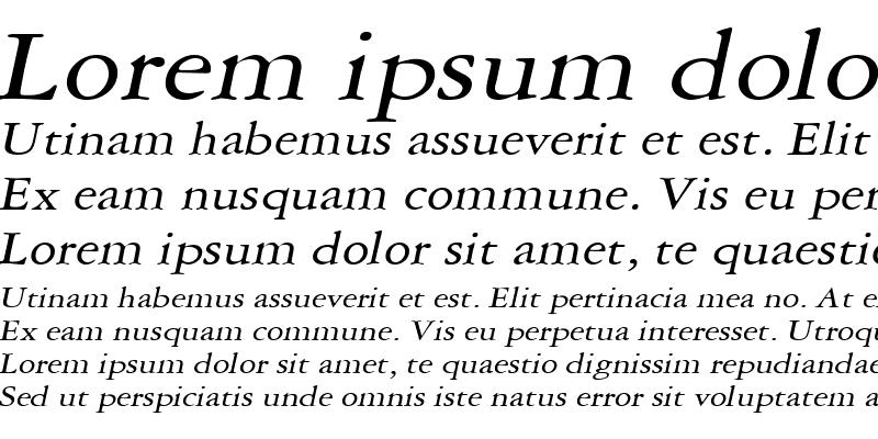 Sample of AmethystWide Italic