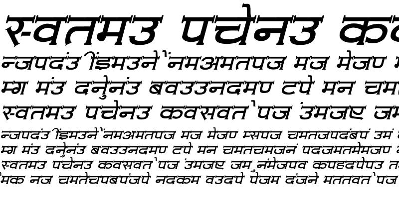 Sample of Amit-Normal Italic