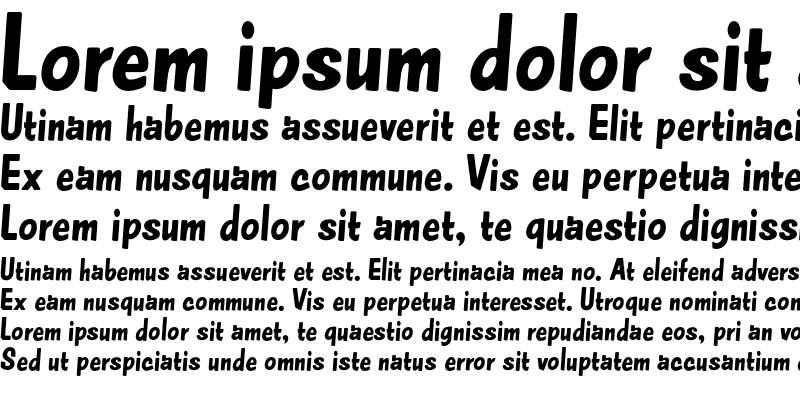 Sample of Amper Sans NF